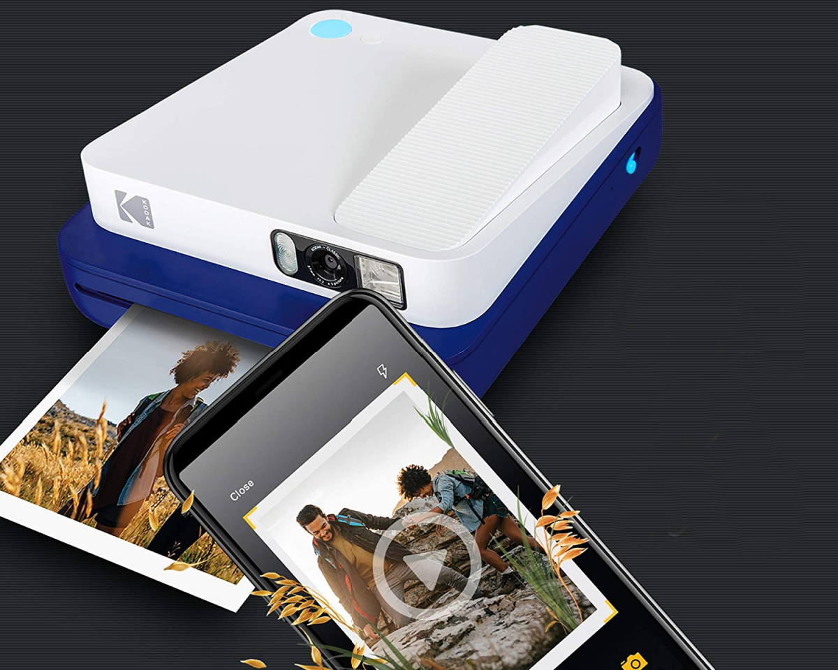 kodak large camera and printer in white