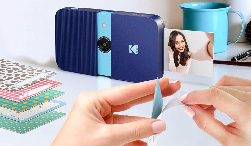 kodak slide camera and printer in blue