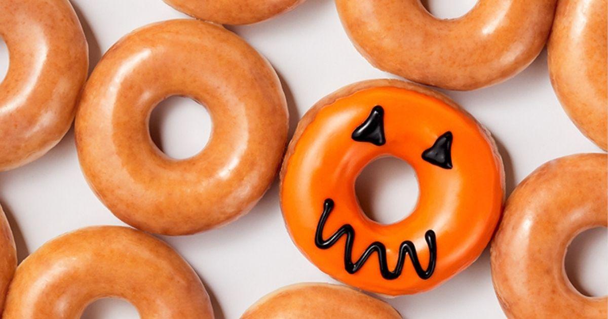 Halloween dozen doughnuts from Krispy Kreme