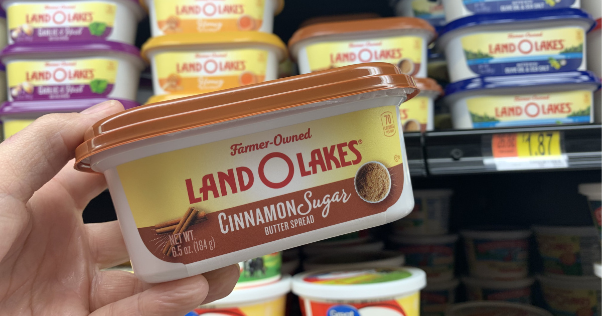 land o lakes cinnamon butter in hand at walmart