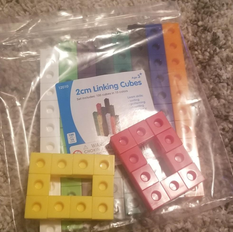 package of blocks with blocks on top