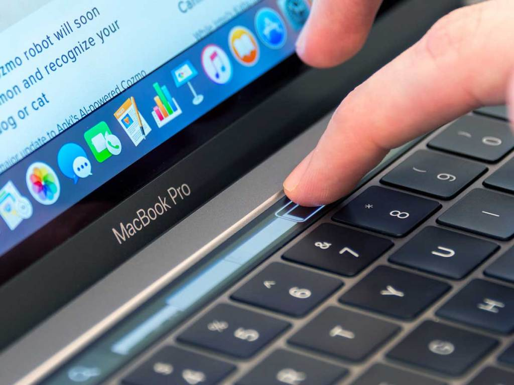 touchbar of Macbook Pro