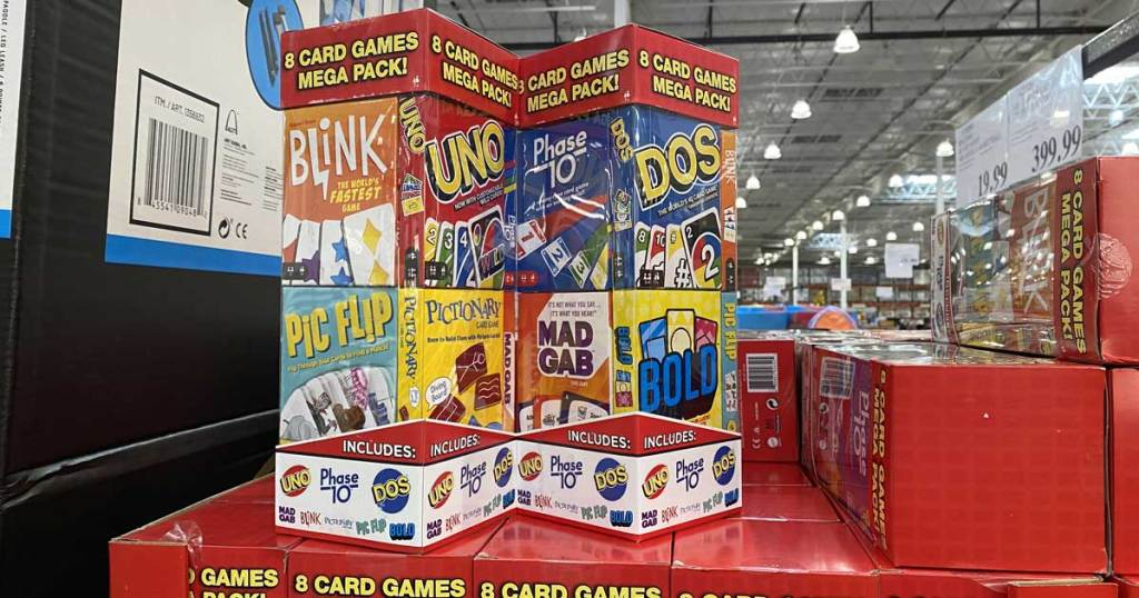 mattel card game collection in store