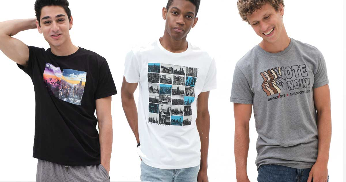 male models wearing graphic tees