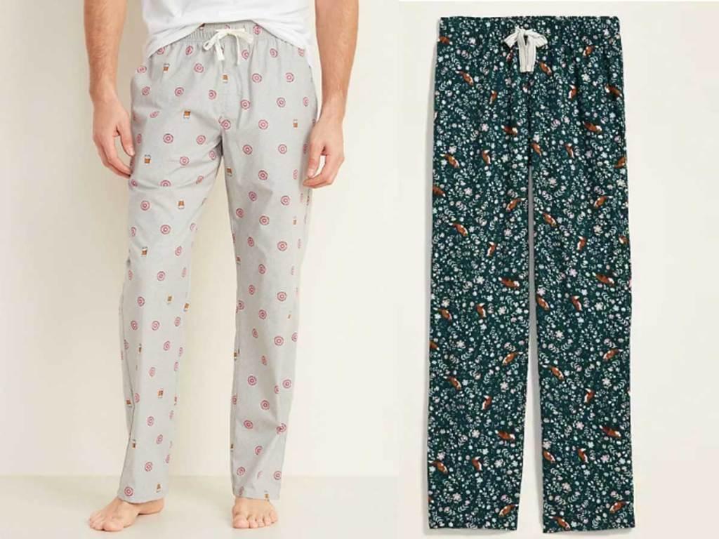 mens and womens pajama bottoms