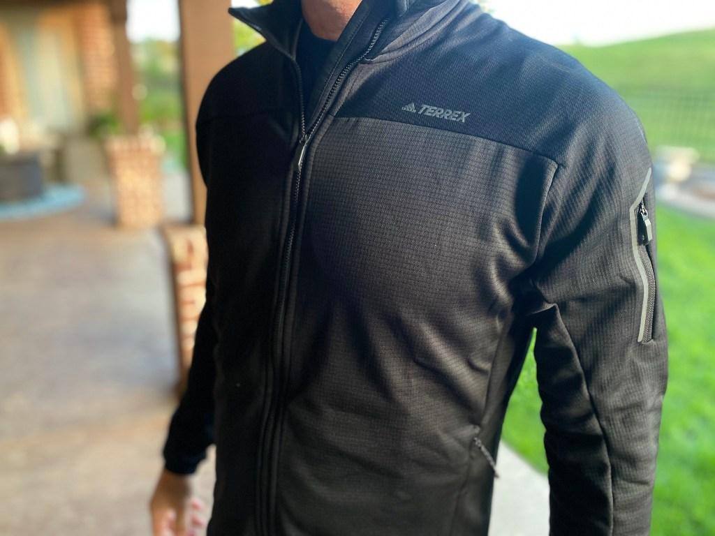 mens outerwear black jacket terrex