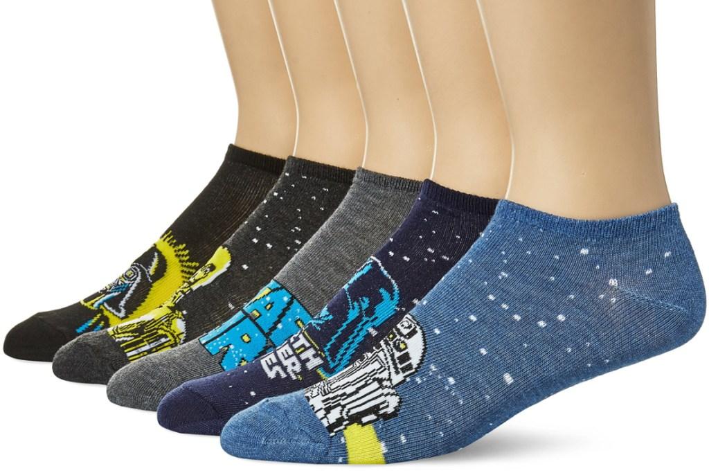 mens star wars socks on feet