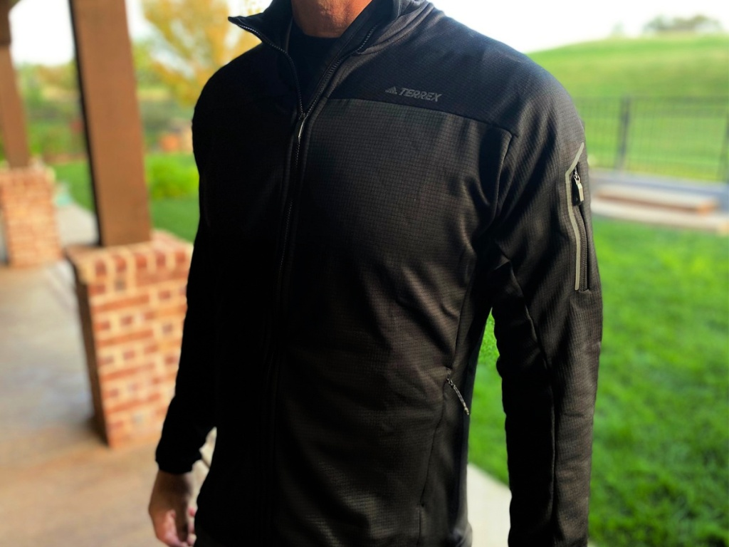 men's terrex pullover on man outdoors