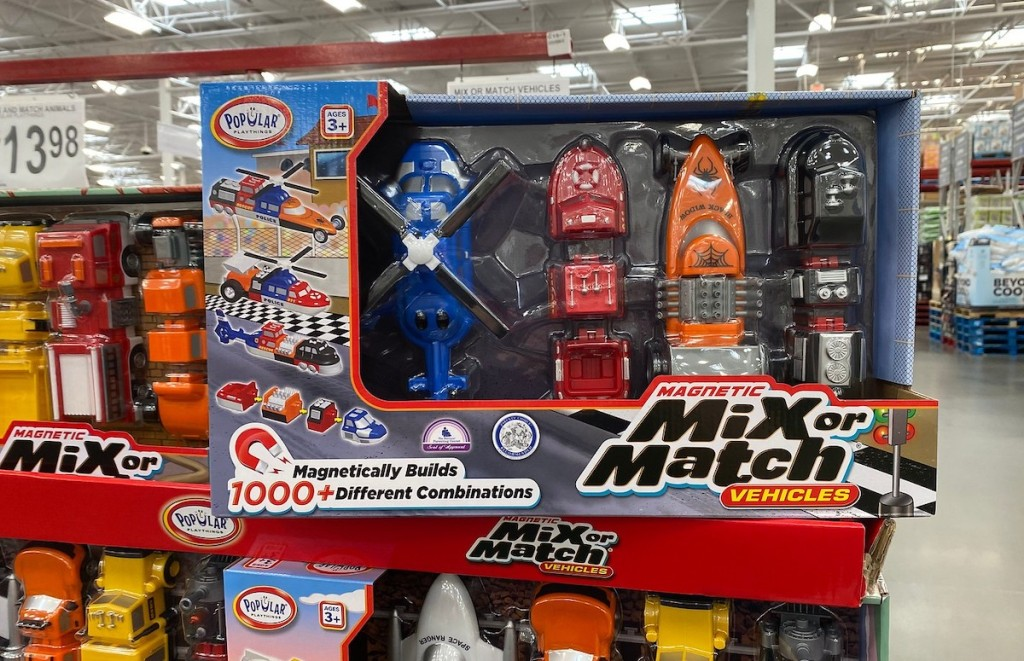 mix and match vehicles in box at store