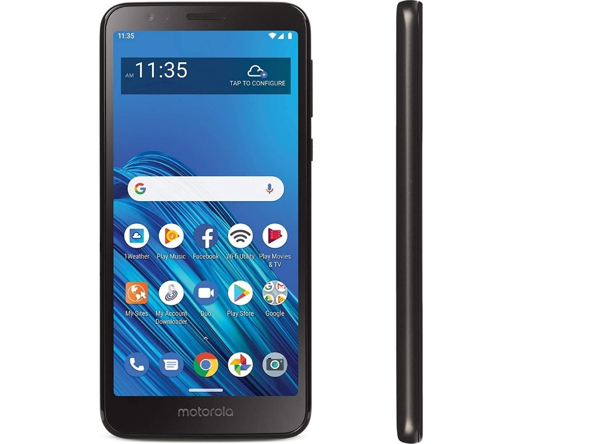front and side view of Motorola phone