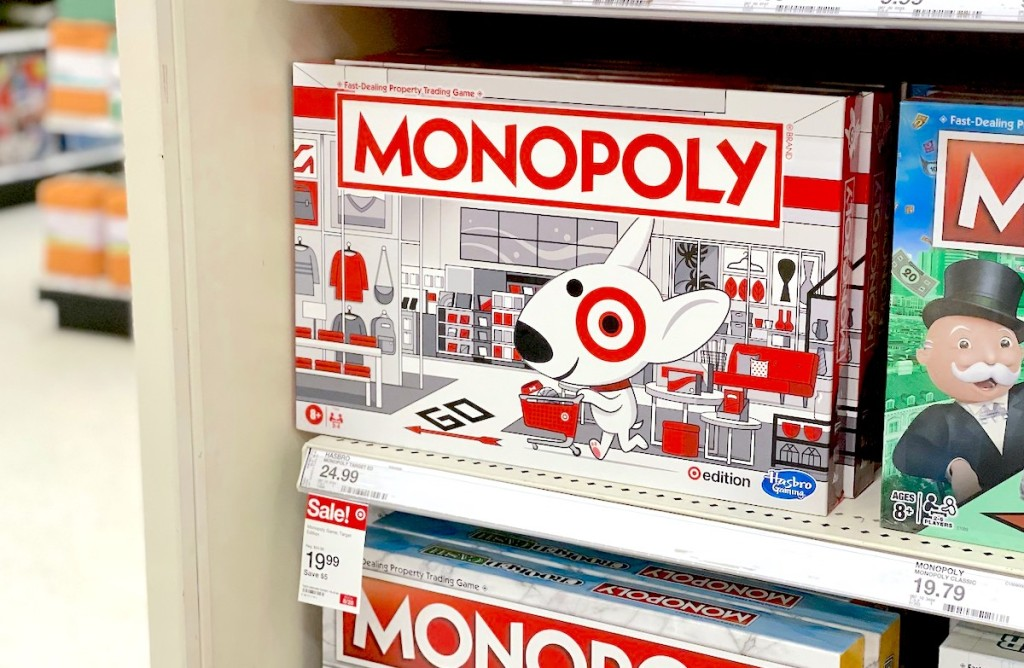 target monopoly games on store shelf