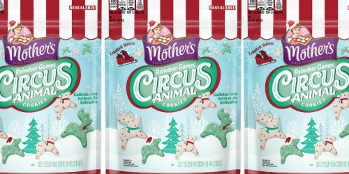 Mother's Circus Animal Cookies Just Released a New Reindeer Games Edition
