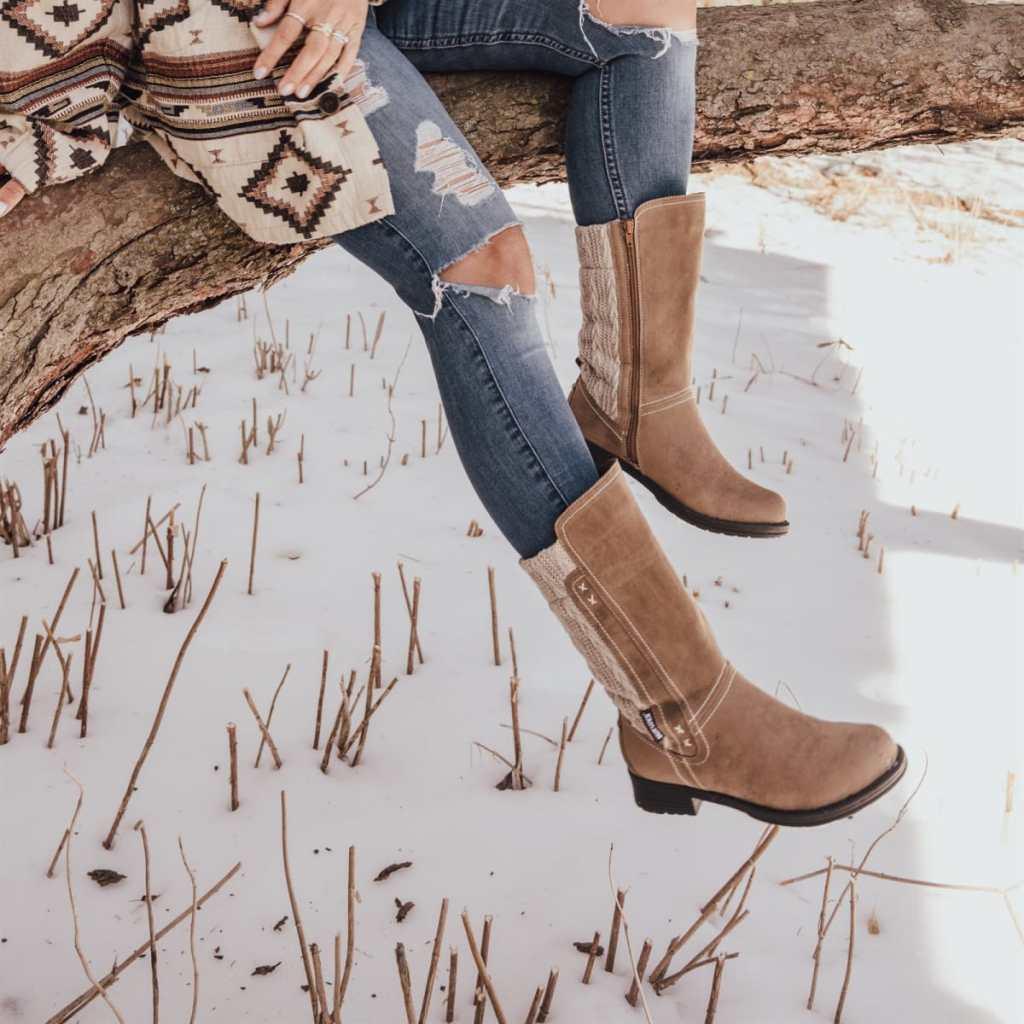muk luks casey boots in snow