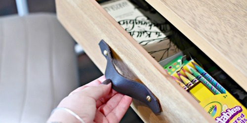 Upgrade a Boring Drawer with Stylish Leather Handles!