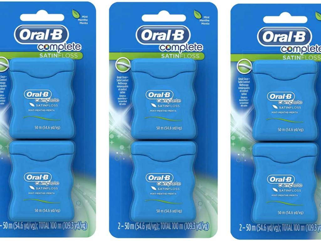 oral b complete dental floss 3 packs