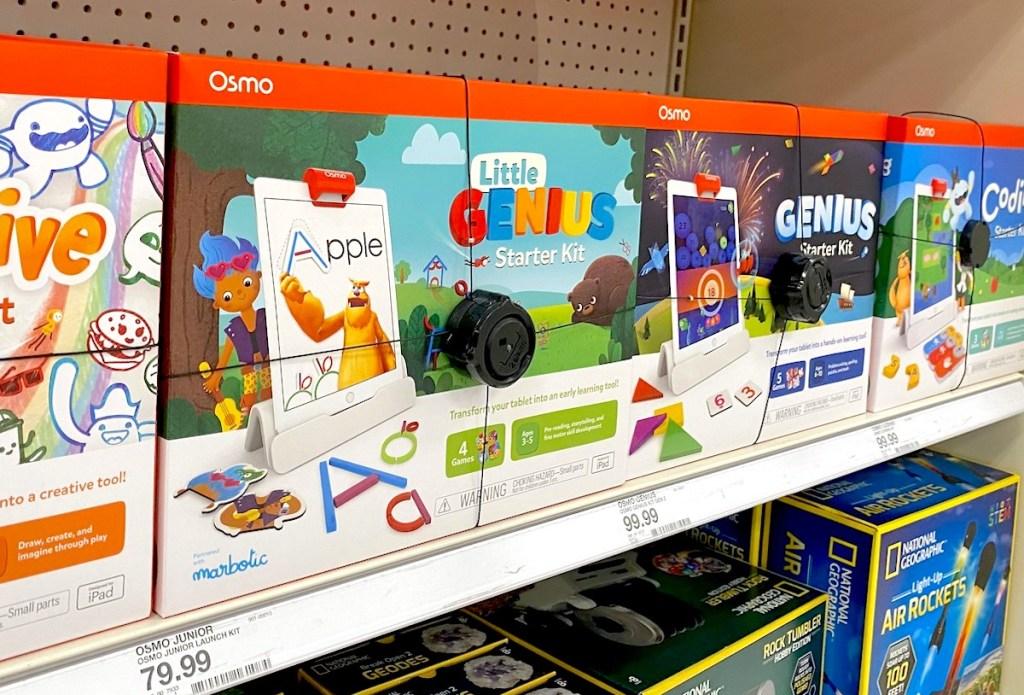 osmo genius kids you on store shelf with security alarm lock
