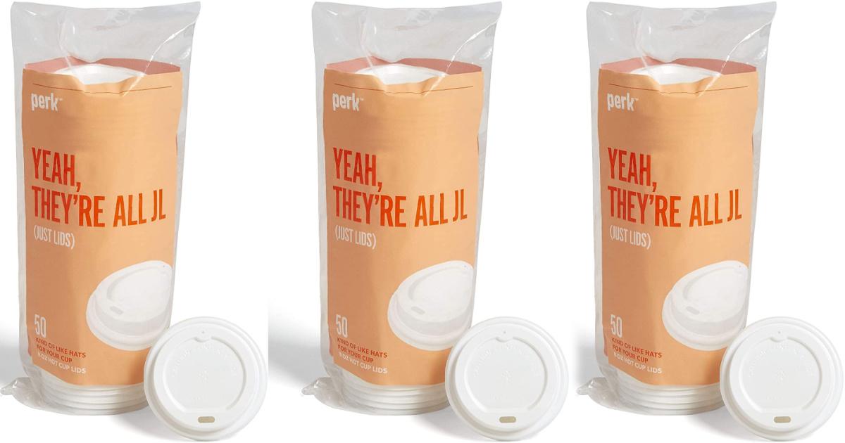 packaged Perk plastic lids