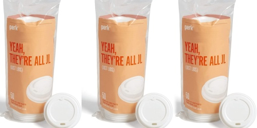 Perk Plastic Hot Cup Lids 50-Pack Only $1.25 Shipped on Staples.com (Regularly $4)
