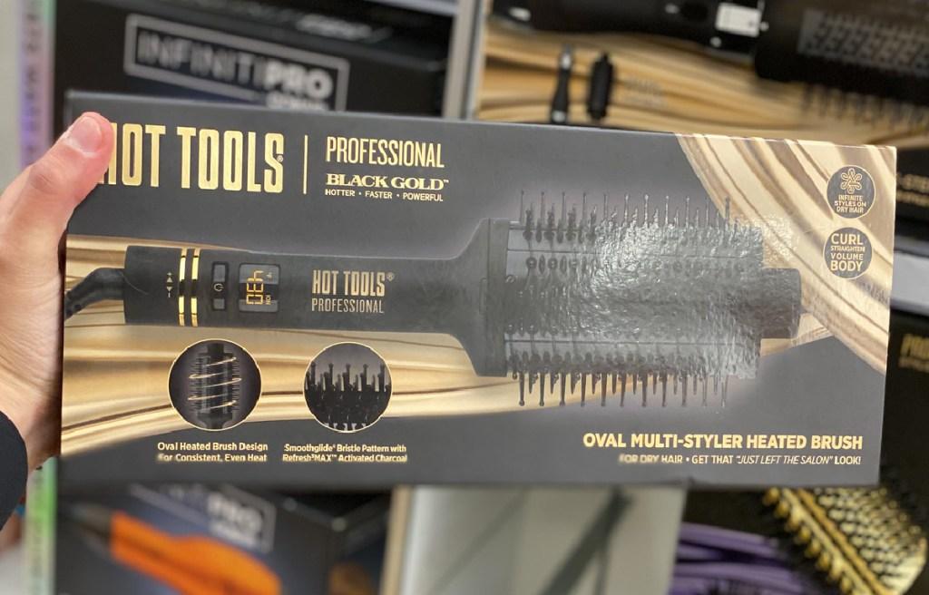 Hot Tools Professional Black Gold Multi-Styler Heated Brush