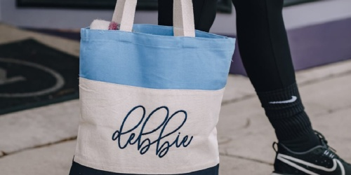 Personalized Embroidered Tote Bags Only $16.95 Shipped (Today Only)