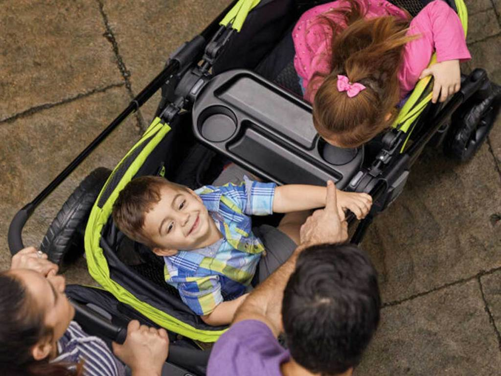 overhead view into stroller wagon