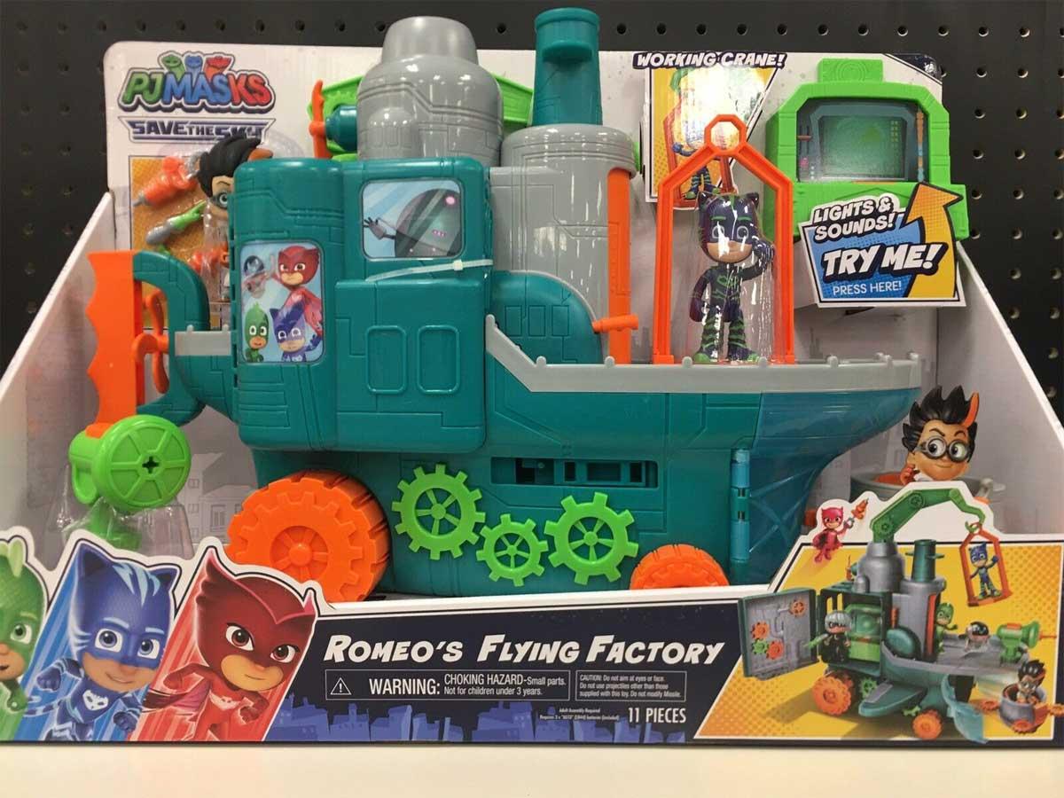 pj mask romeo's flying factory