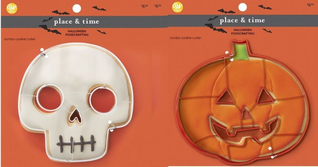 pumpkin and skeleton cookie cutters