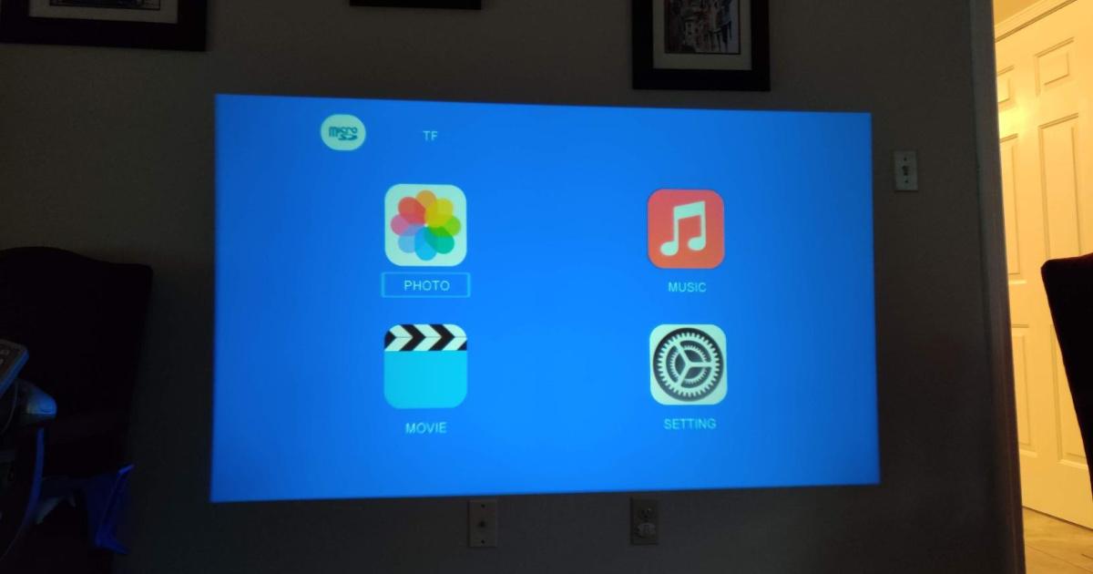 projector illuminated on wall