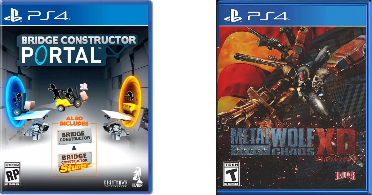 2 video games in plastic cases