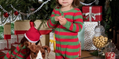 Kids Christmas Pajamas Including Sets w/ Matching Doll Pajamas Only $7.99 on Zulily