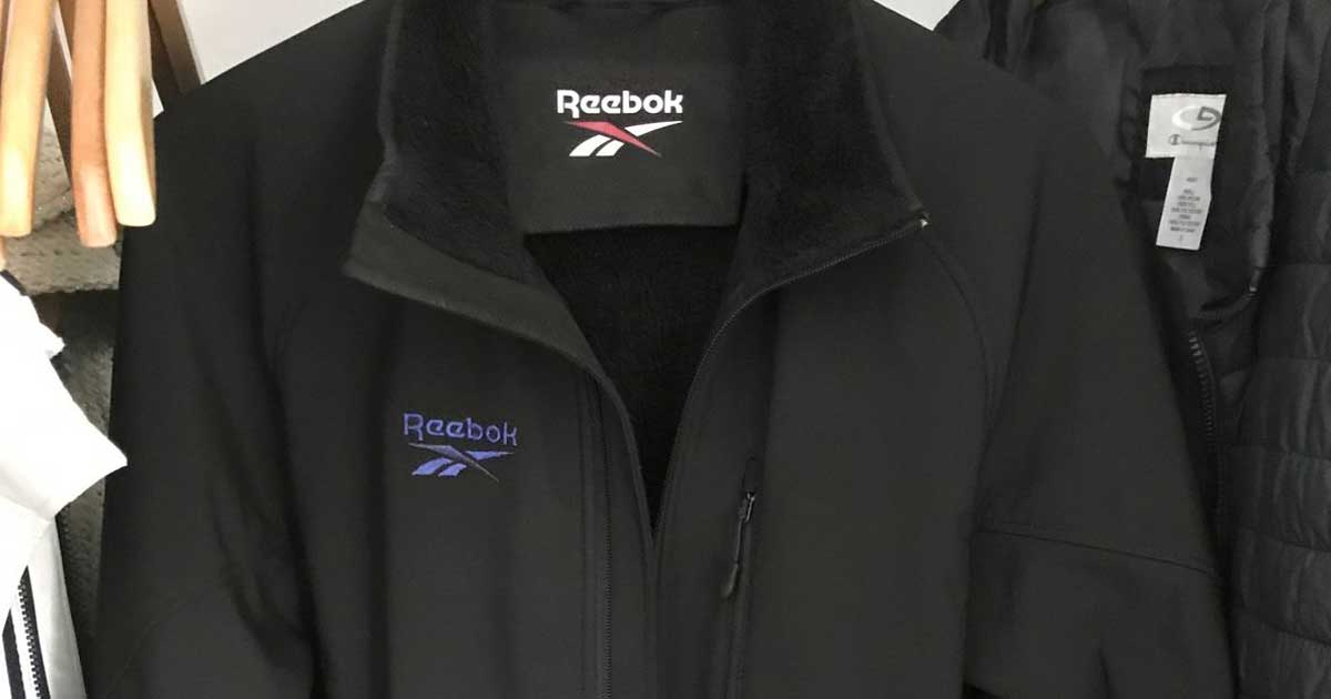 close up of fur lined reebok jacket
