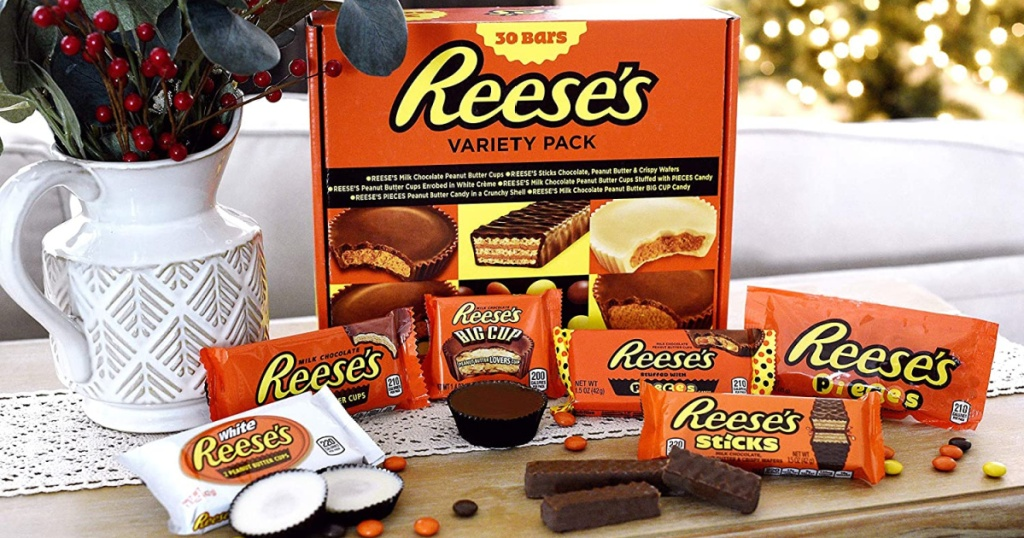 reeses box with candy bars