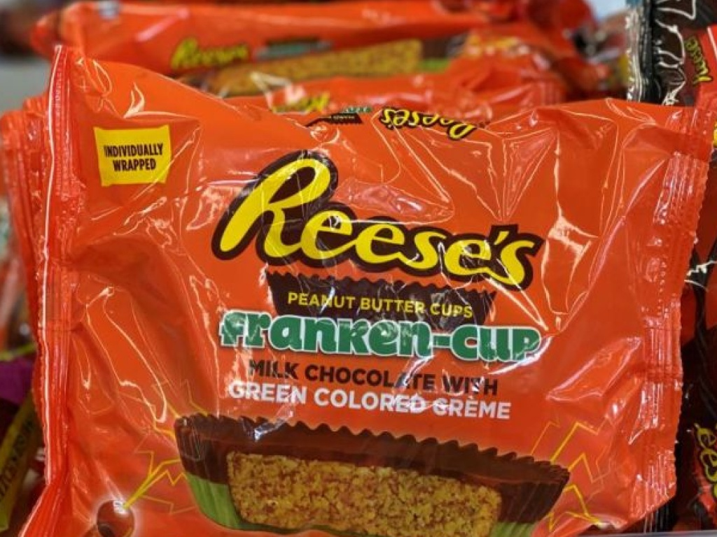 bag of Reese's candy on store shelf