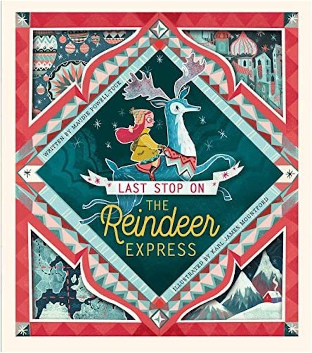 reindeer express book stock photo