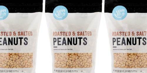 Happy Belly Roasted & Salted Peanuts 44oz Bag Only $5.80 Shipped on Amazon