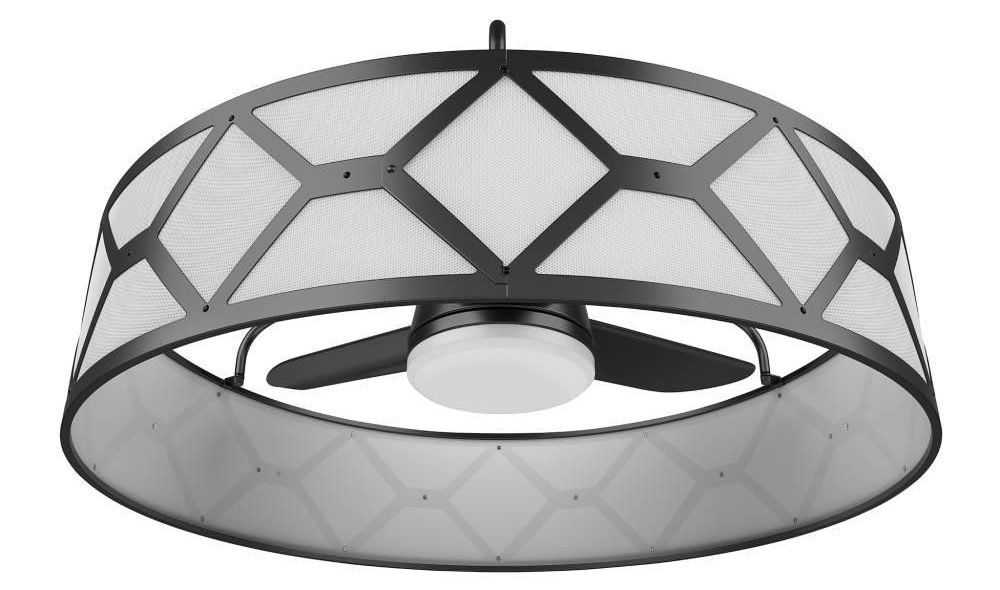 round ceiling fan silver