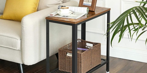 Trendy Industrial Style Accent Table Only $36.79 Shipped on Amazon | Awesome Reviews