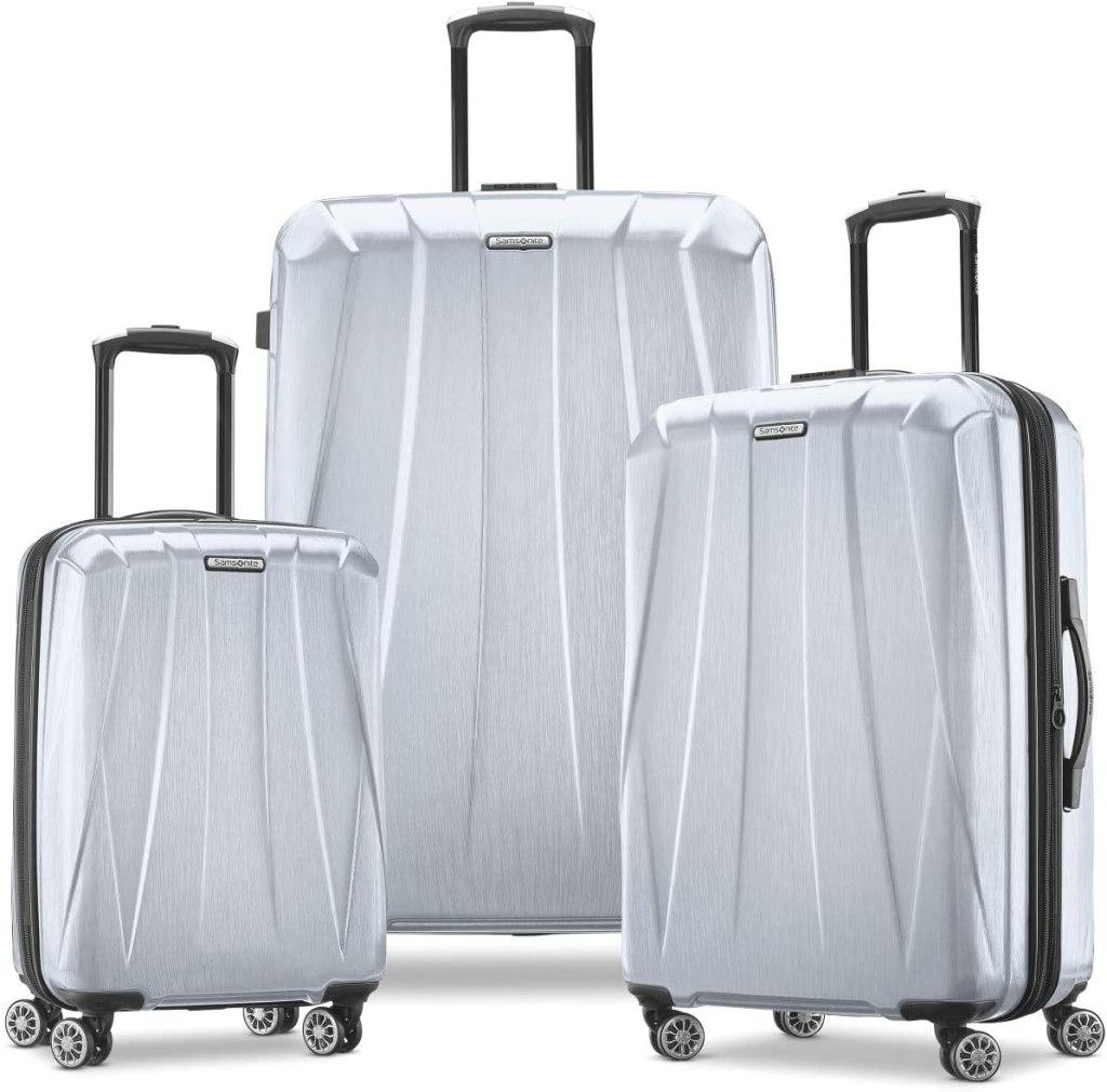 samsonite 3-piece silver luggage set