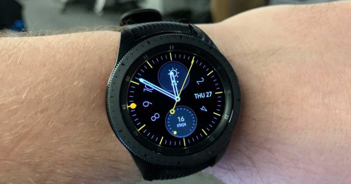 samsung smart watch on man's wrist