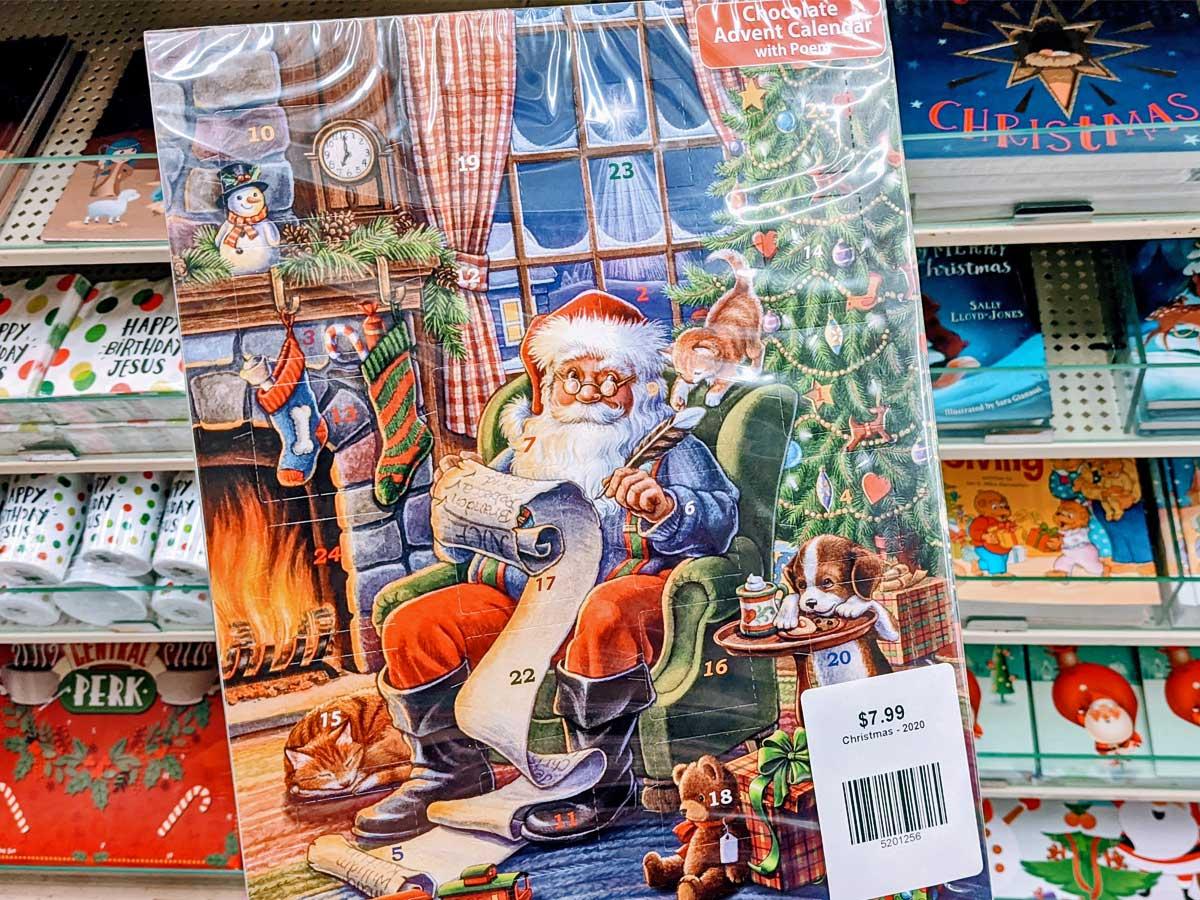 santa with his list advent calendar