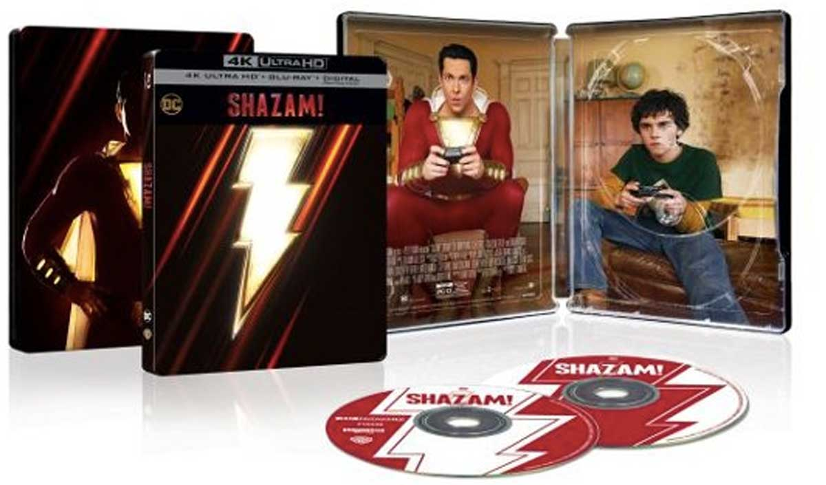 shazam movie cases and dvds