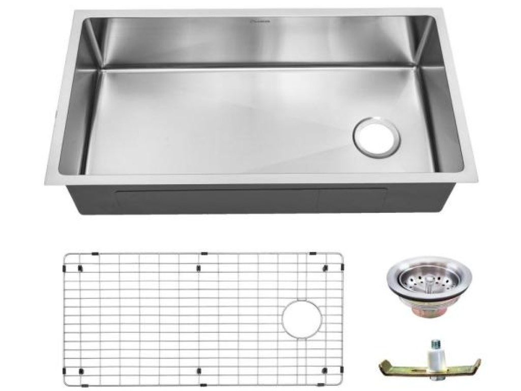 single bowl sink with strainer