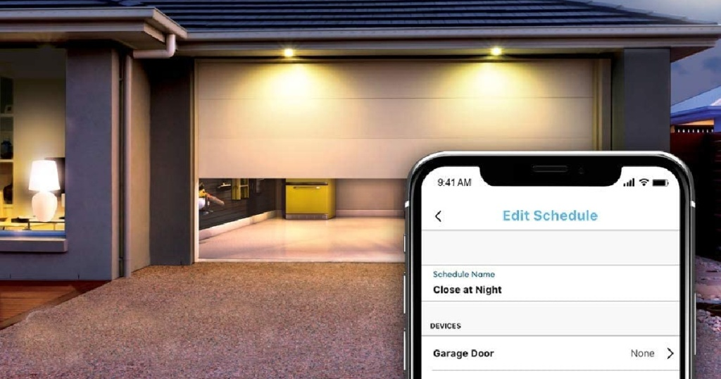 smart garage opener with phone