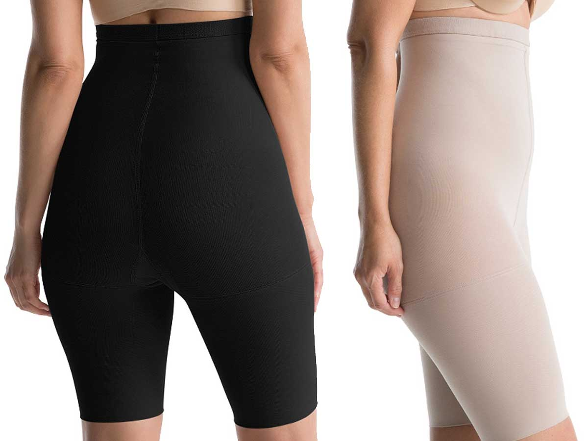 black and nude colored spanx