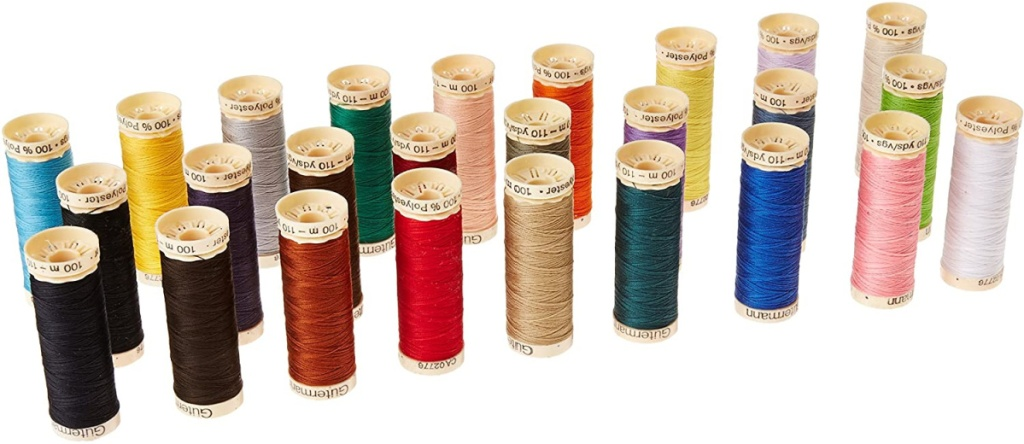 spools of thread in 26 colors