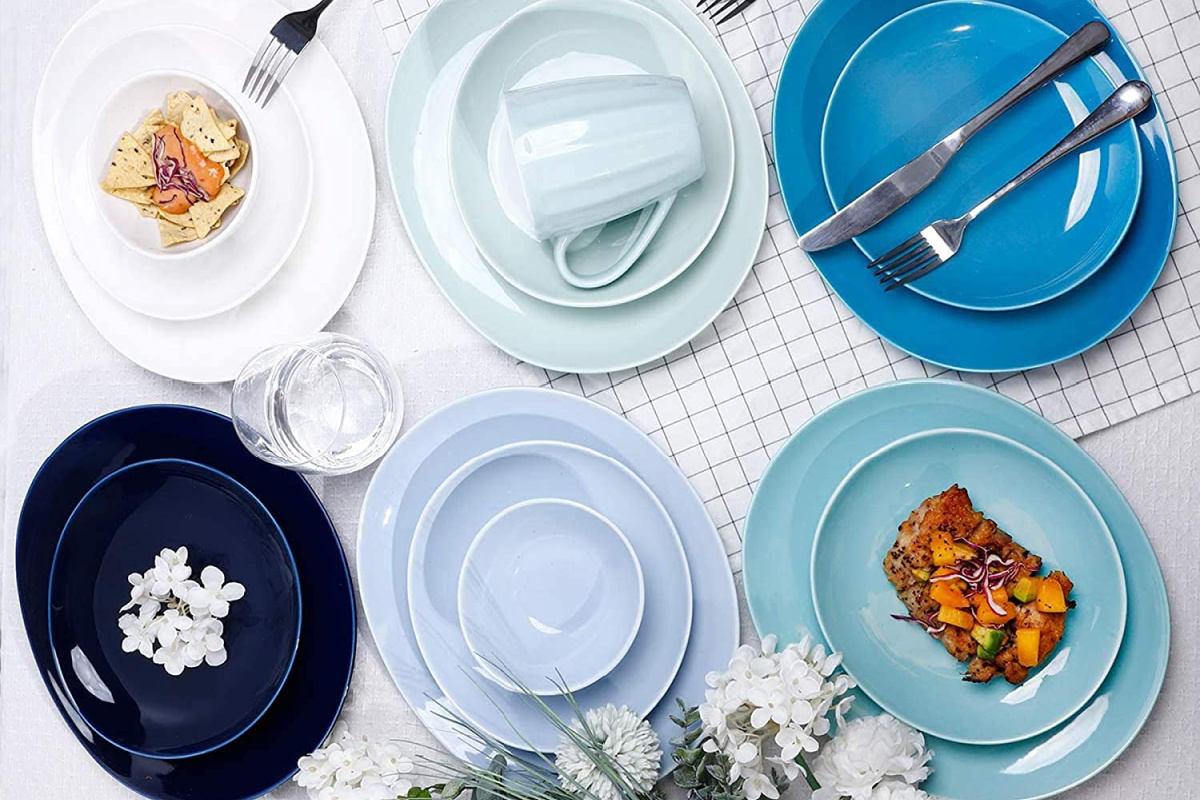 sweese cereal bowls in blues and cool colors