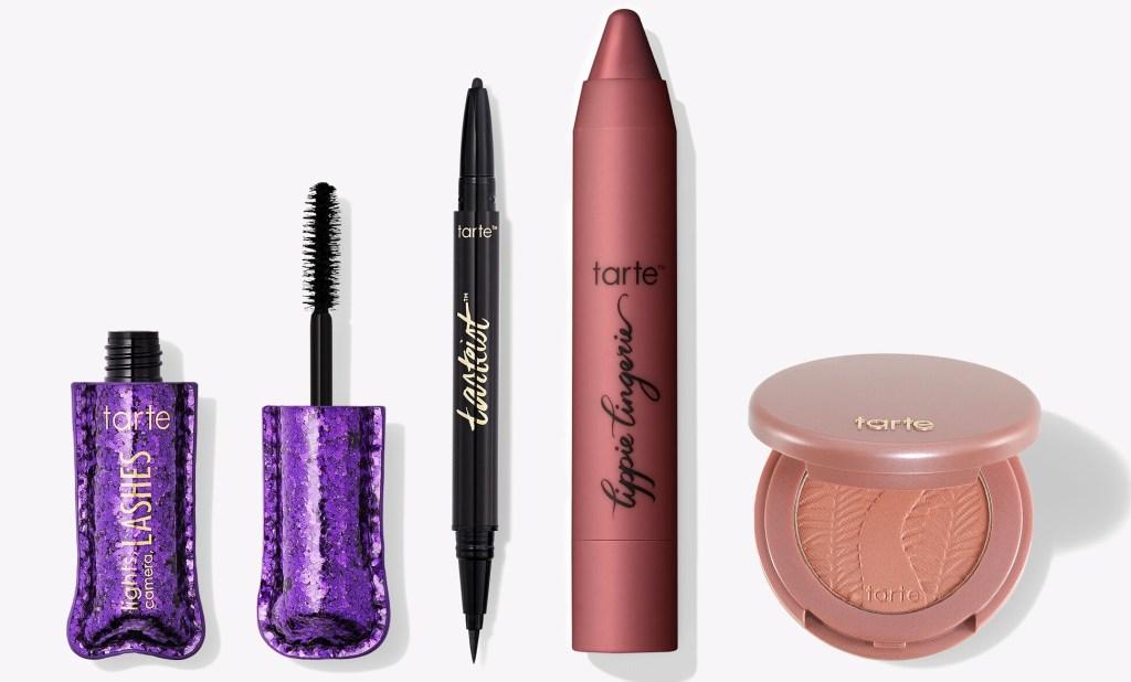 row of Tarte cosmetics