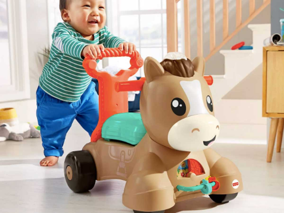 toddler with walk and bounce and ride pony