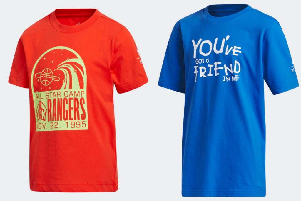 toy story tees red and blue