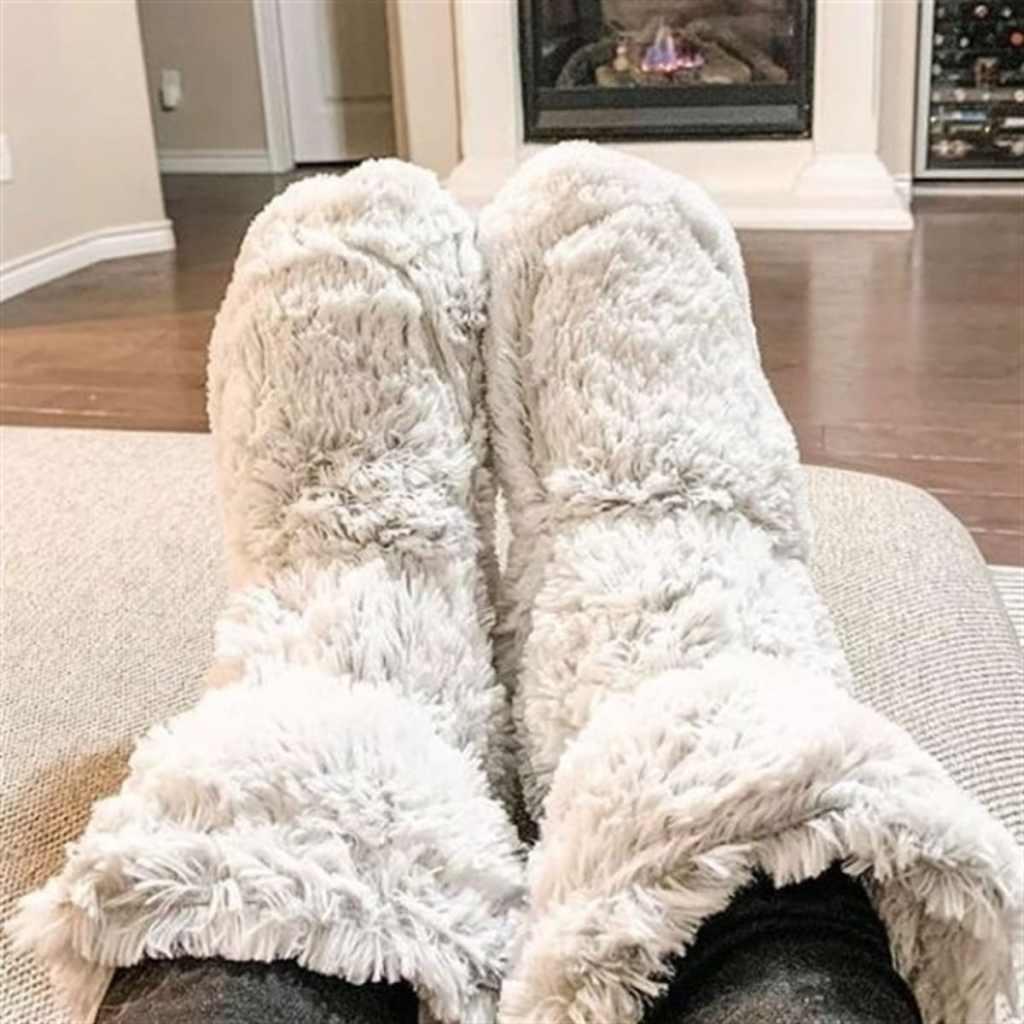 warmies boots on feet